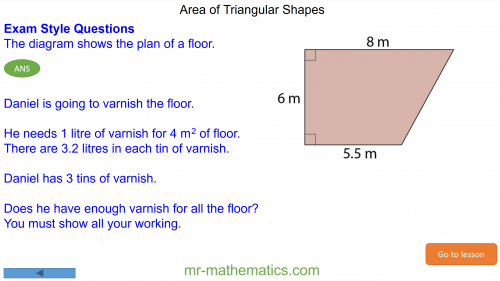 Revising Area of Triangular Shapes