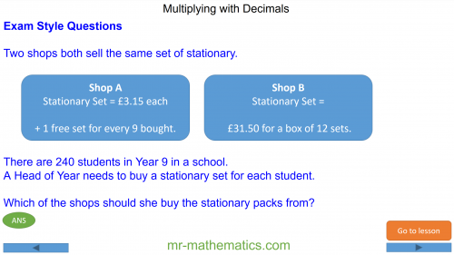 Revising Product of Decimal Numbers