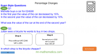Revising Percentage Changes