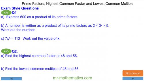 Revising Prime Factors