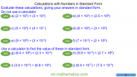 Revising Calculations with Standard Form