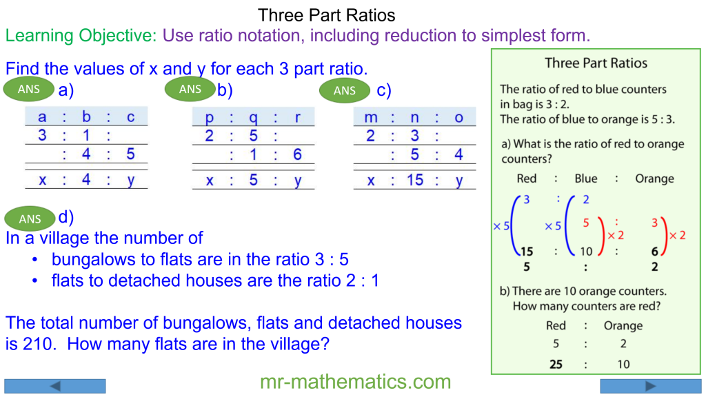 How Write 3 Part Ratios