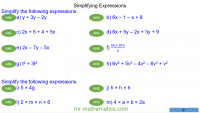 Revising Simplifying Expressions