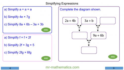 Revising Simplifying Expressions