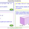 Revising Expanding Quadratics