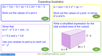 Revising Expanding Quadratics