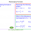 Revising Rearranging Formulae