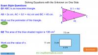 Revising Solving Equations