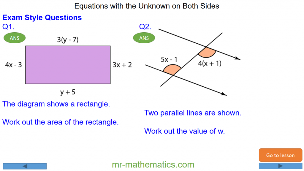 Revising Equations with the Unknown on Both Sides