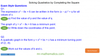 Revising Completing the Square