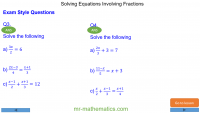 Revising Solving Equations with Fractions