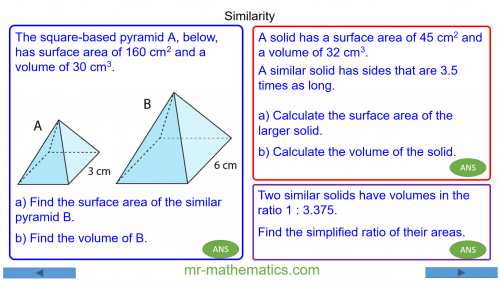 Revising Problems with Similar Shapes