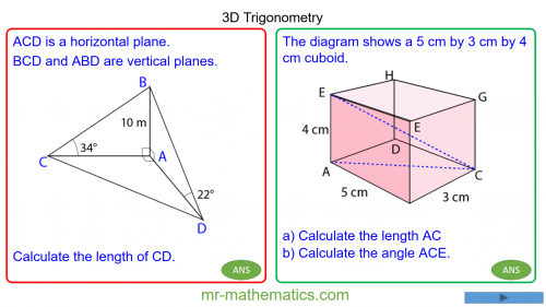 Revising 3D Trigonometry