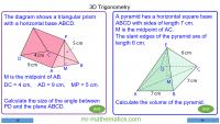 Revising 3D Trigonometry