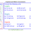 Revising Imperial and Metric Conversions