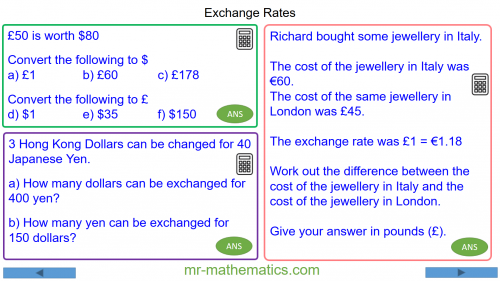 Revising Calculating Exchange Rates