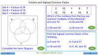 Revising Highest Common Factors