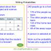 Revising Writing Probabilities