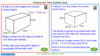 Revising Volume and Surface Area of Cuboids