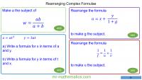 Revising Rearranging Complex Formulae