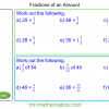 Revising Fractions of an Amount