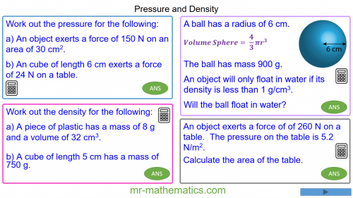 Revising Density and Pressure