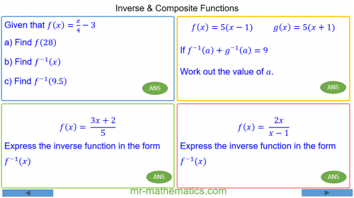 Revising Inverse and Composite Functions