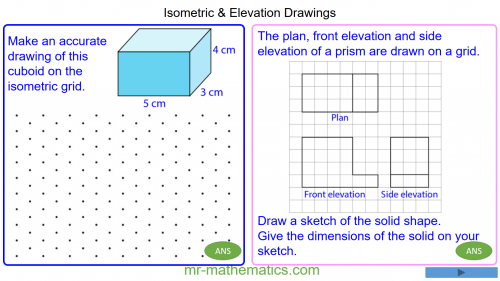 Revising Isometric and Elevation Drawings of 3D Shapes