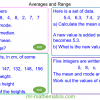 Revising Averages and Range
