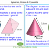 Revising Spheres, Cones and Pyramids