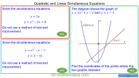 Revising Quadratic and Linear Simultaneous Equations