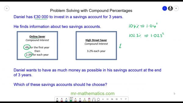 Problem Solving with Compound Percentages