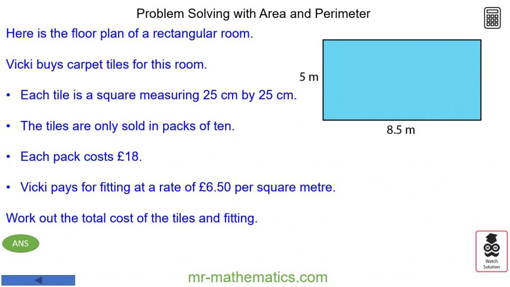 Problem Solving - Perimeter and Area