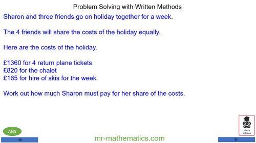 Problem Solving – Numerical Methods