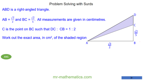 Problem Solving with Surds