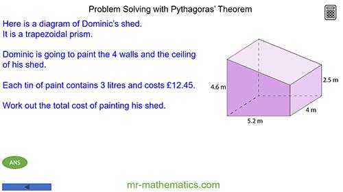 Problem Solving with Pythagoras' Theorem