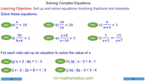 Complex Linear Equations