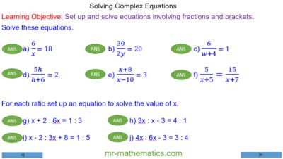 Complex Linear Equations