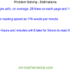 Problem Solving – Estimations