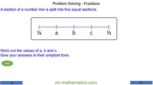 Problem Solving - Fractions