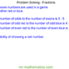 Problem Solving – Fractions