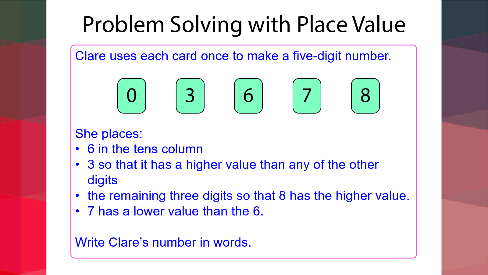 Problem Solving with Place Value