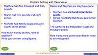 Problem Solving - Place Value