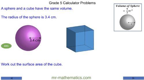 Grade 5 Calculator Problems