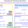 Expanding and Factorising Expressions with Fractional Powers