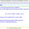 Solve Quadratic Equations using the Formula