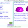 Grade 6 and 7 Calculator Problems