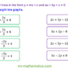 Equation of a Line Between Two Points