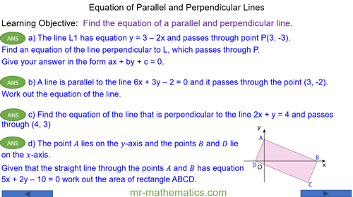 Equation of Parallel and Perpendicular Lines