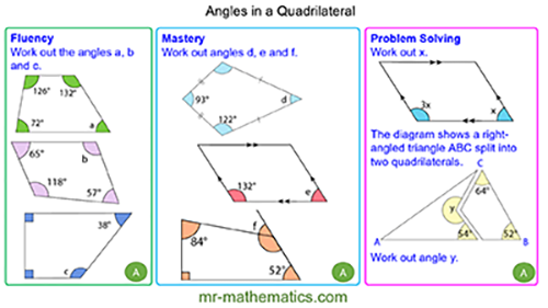Extended Learning - Angles in a Quadrilateral